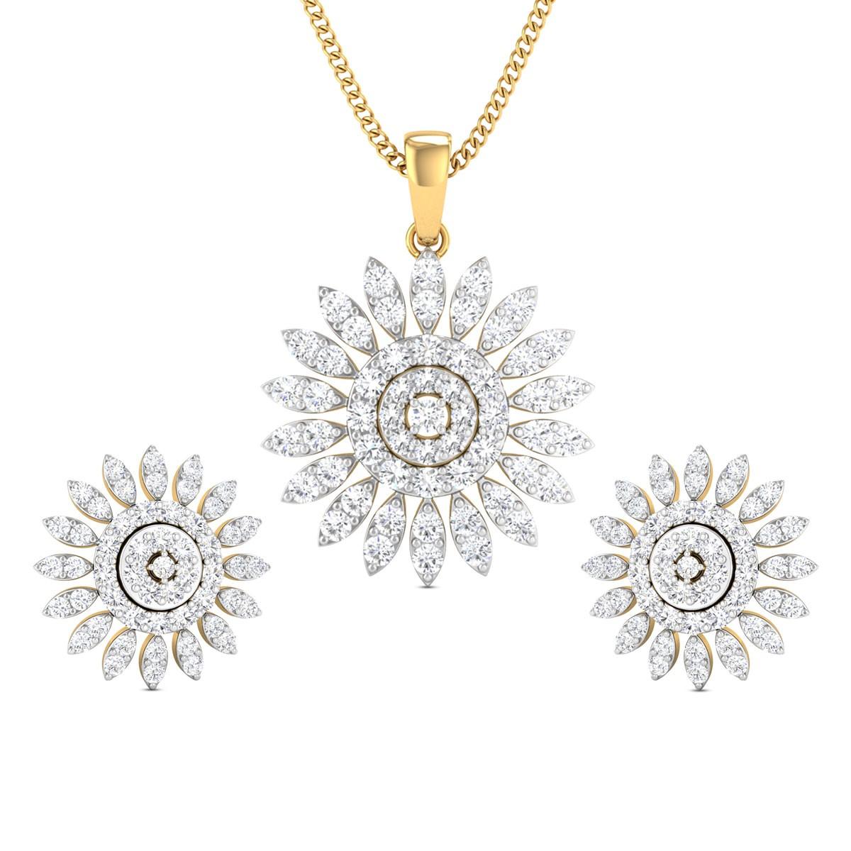 Diamond Pendant Set DJPS5156