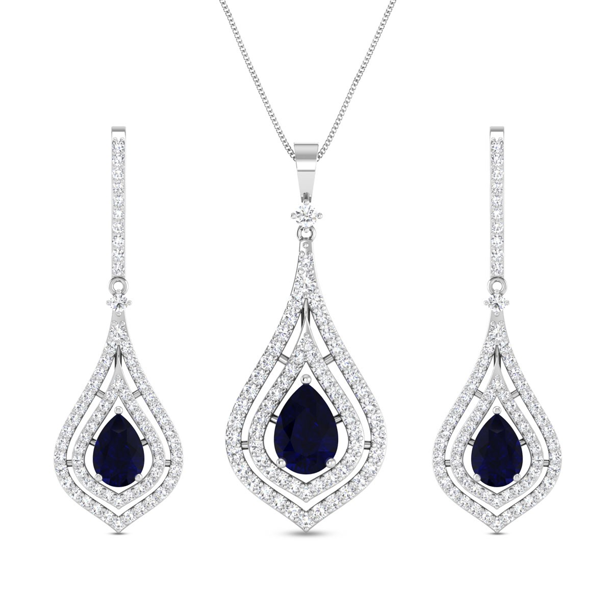 Diamond Pendant Set DJPS5157