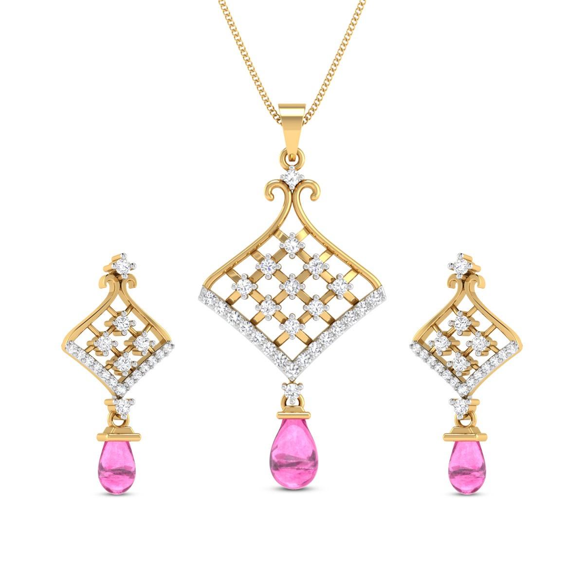 Diamond Pendant Set DJPS5162