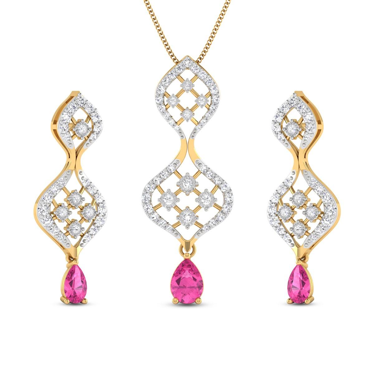 Diamond Pendant Set DJPS5165