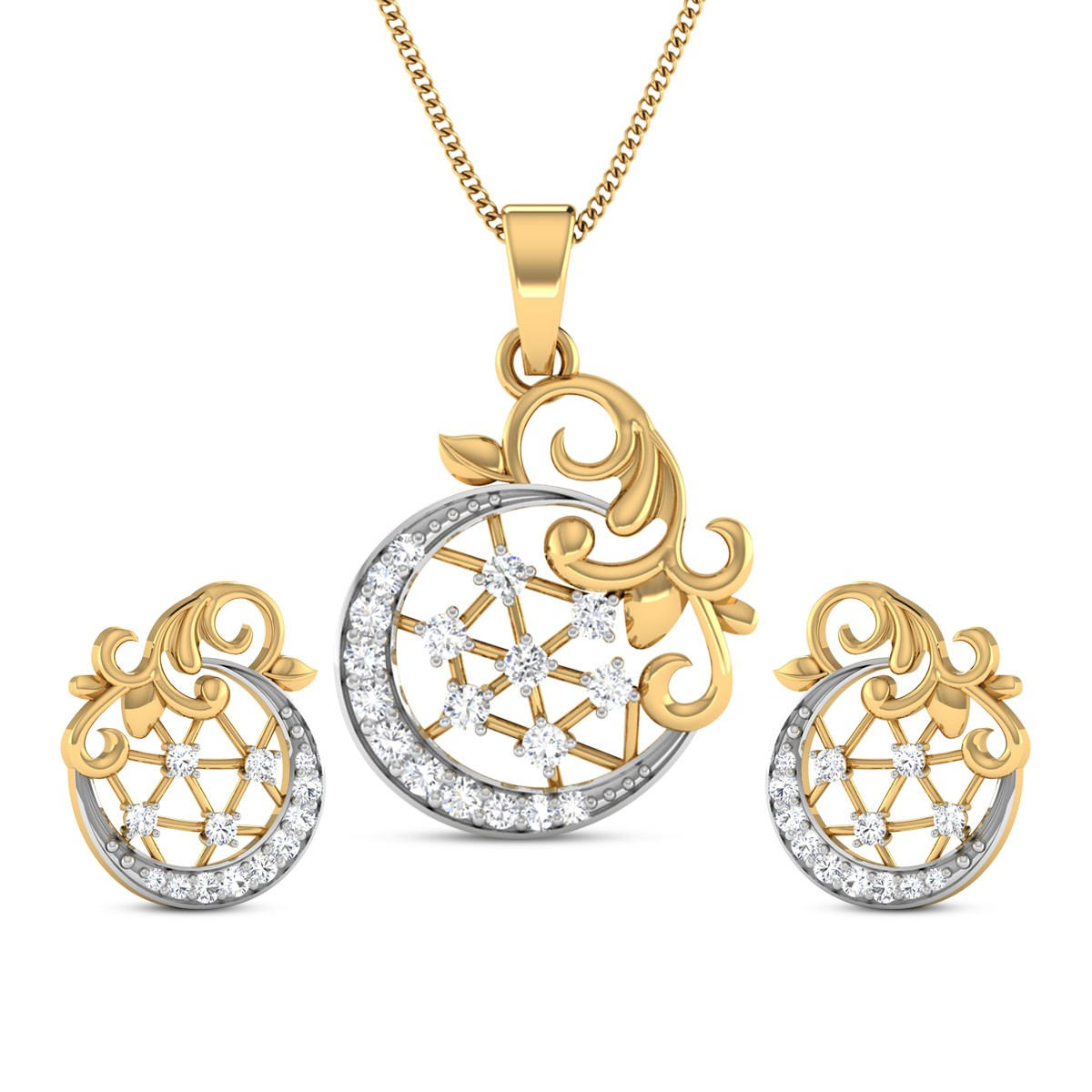 Diamond Pendant Set DJPS5167
