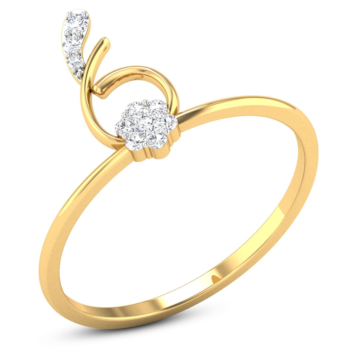 Buy Lynn Diamond Ring in 1.88 Grams Gold Online
