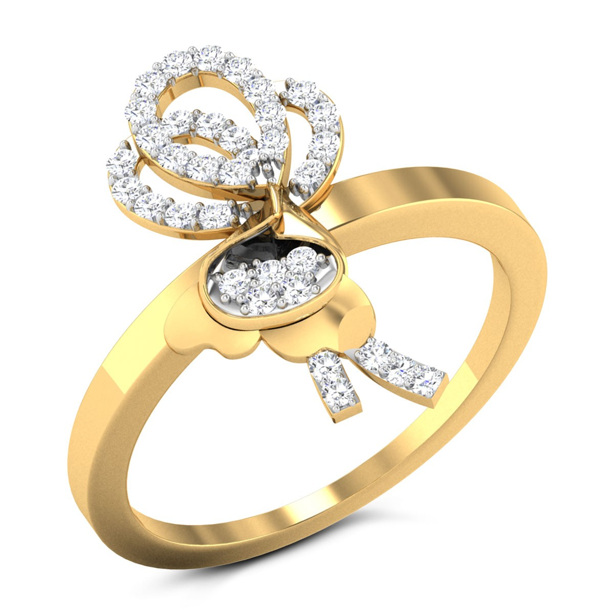 Buy Nadine Diamond Ring in 2.92 Grams Gold Online