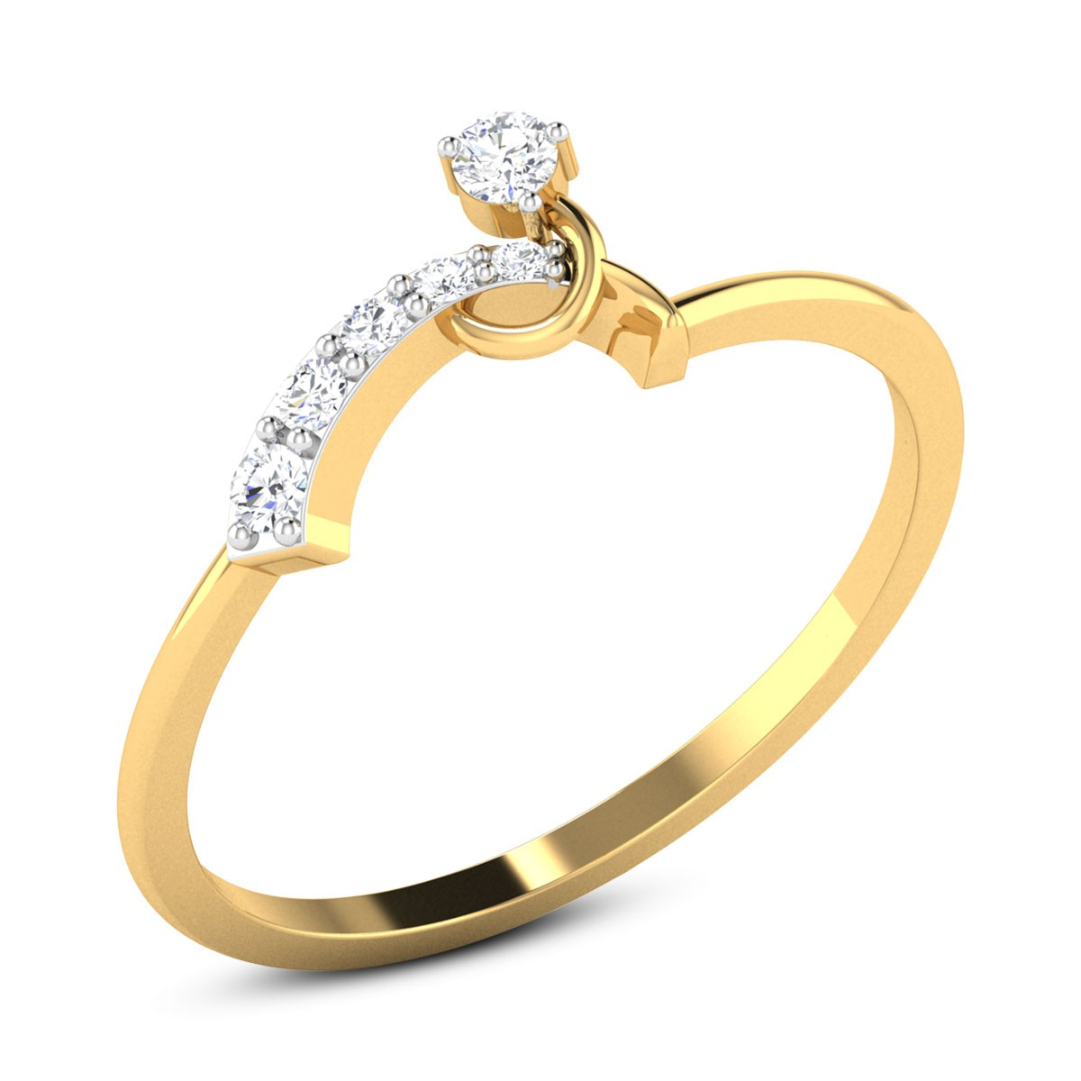 Buy Ophelia Diamond Ring in 2.08 Grams Gold Online