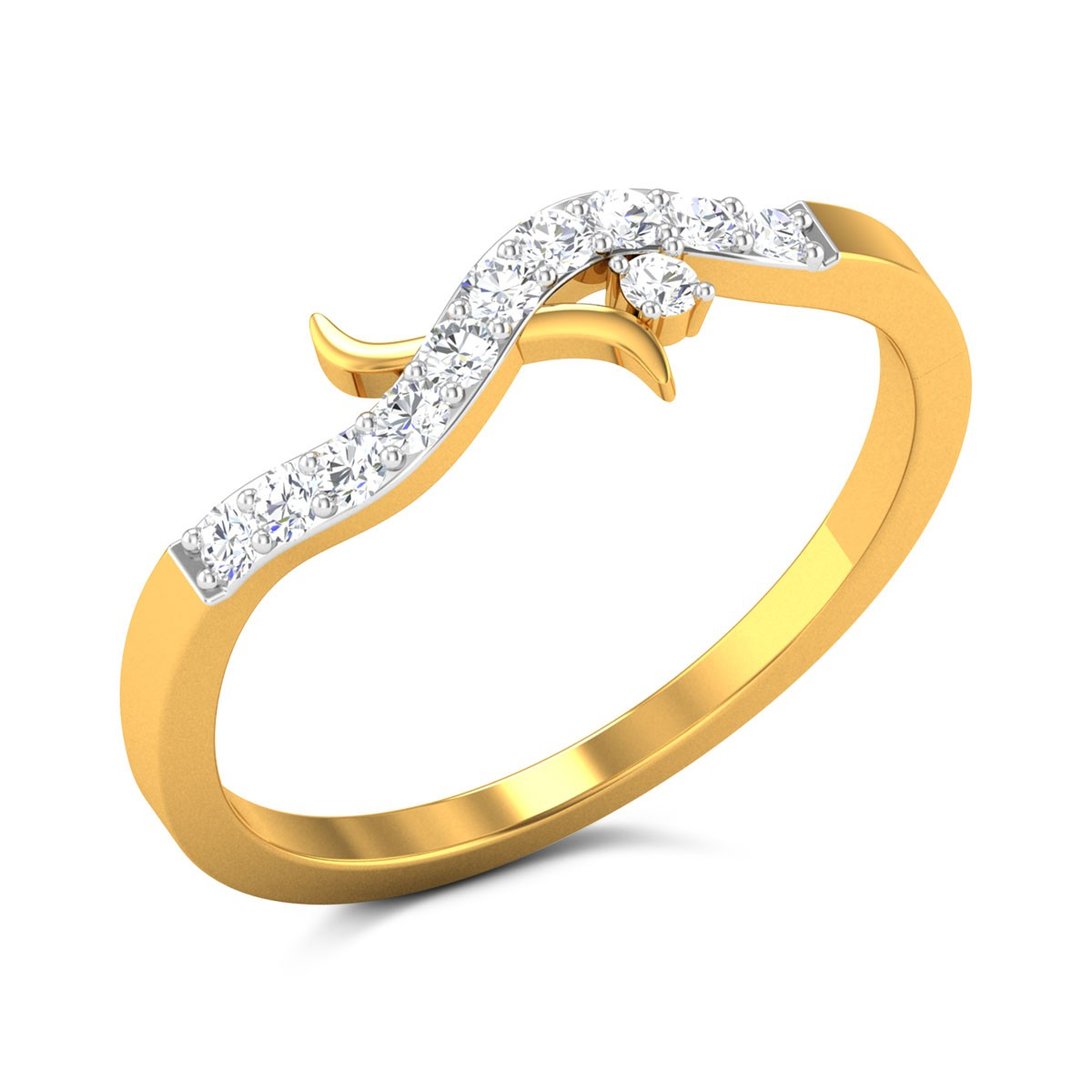 Buy Oksana Diamond Ring in 1.79 Grams Gold Online