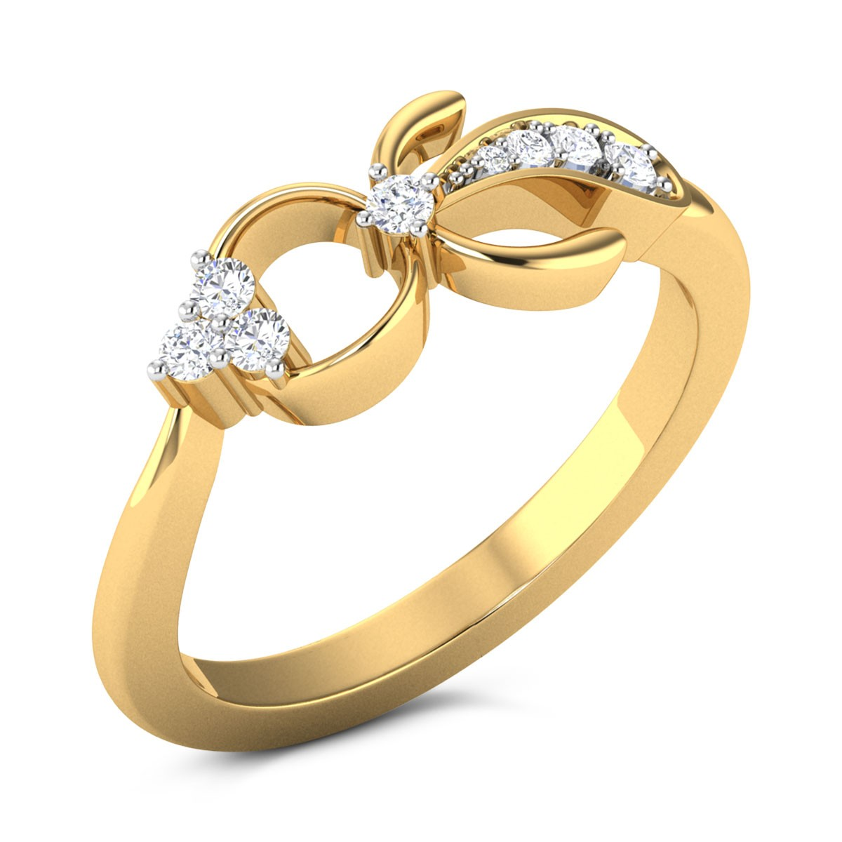 Buy Nelly Diamond Ring in 2.06 Grams Gold Online