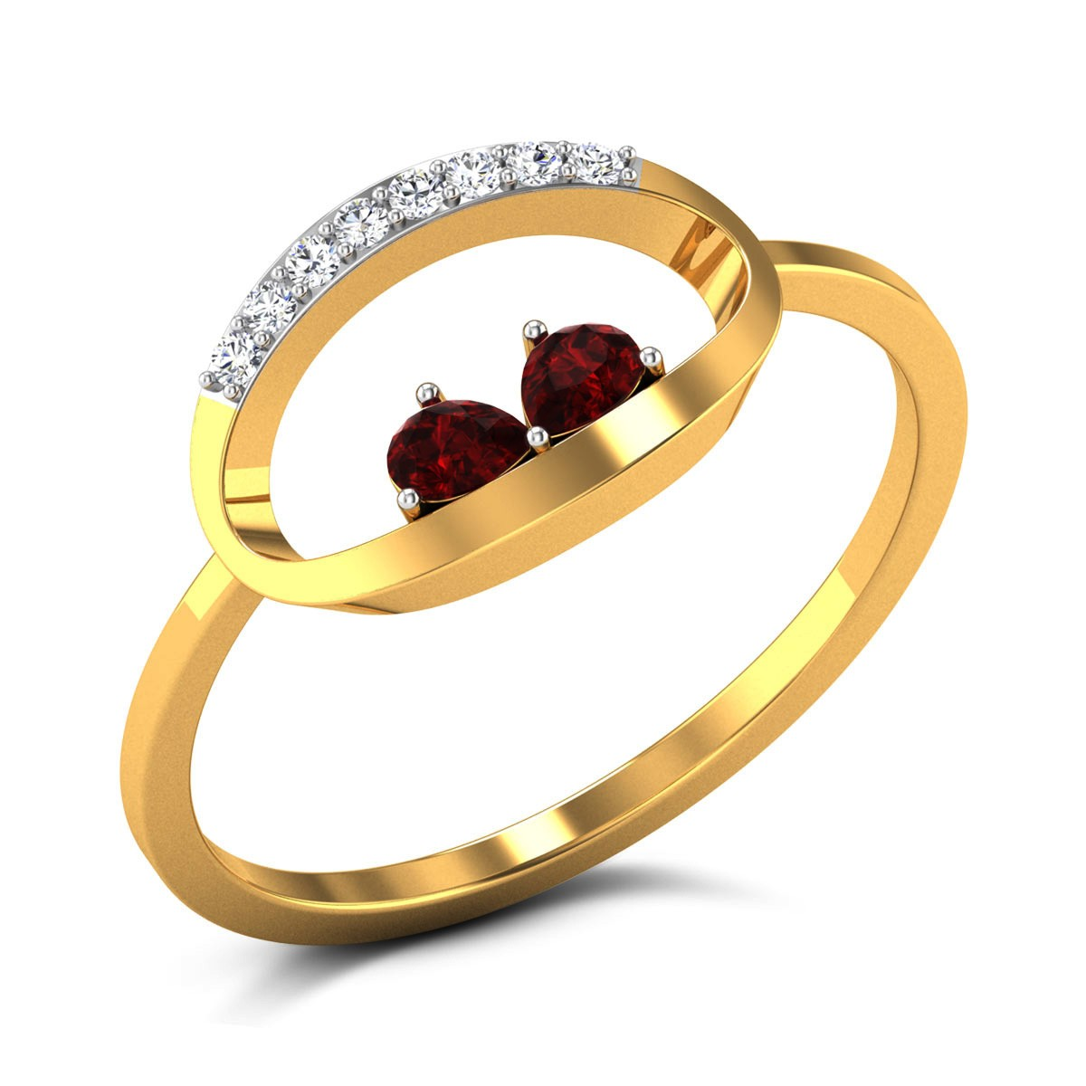 Buy Petula Diamond Ring in 1.91 Grams Gold Online