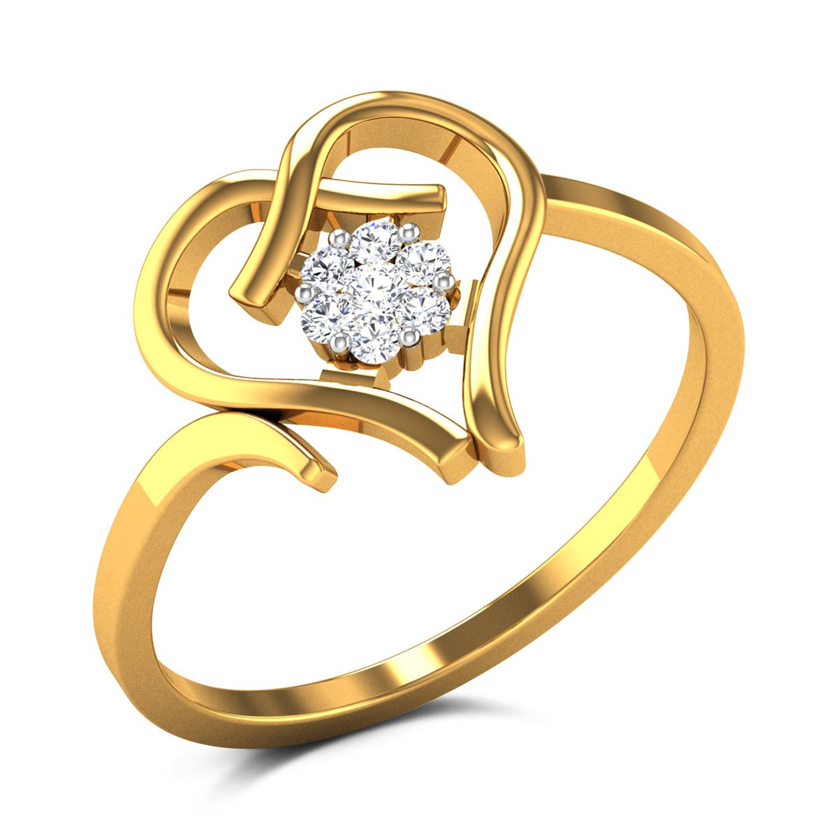 Buy Shianne Hearts Diamond Ring in 2.76 Grams Gold Online