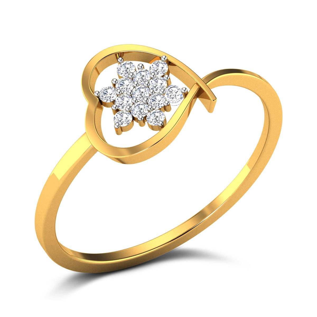 Buy Rudi Heart Diamond Ring in 2.08 Grams Gold Online