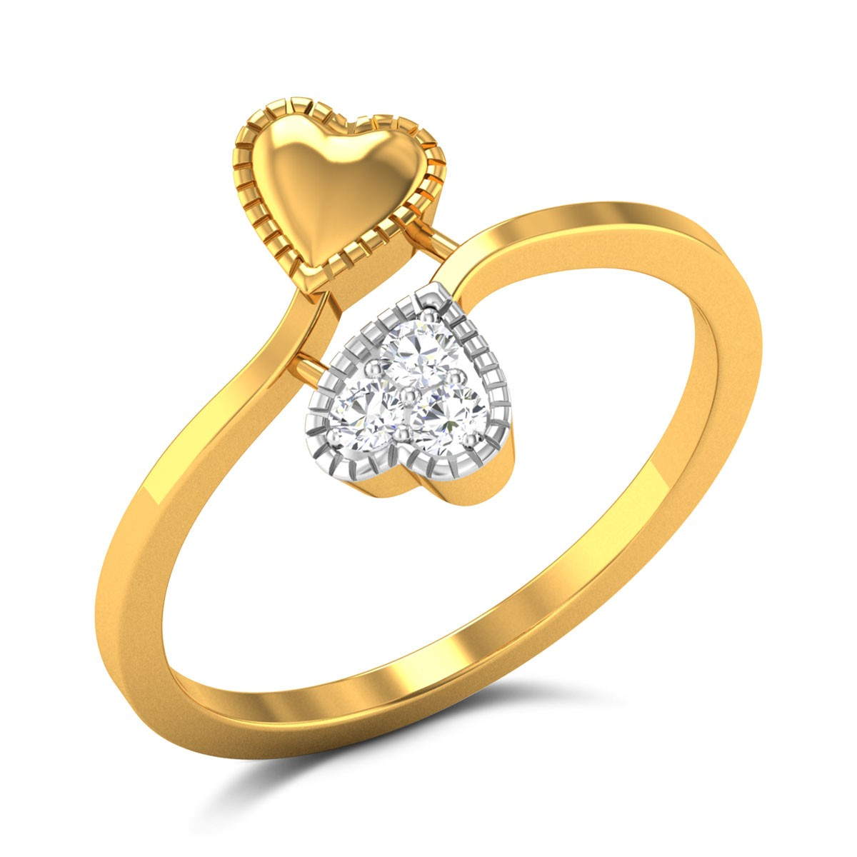 Buy Rhonda Hearts Diamond Ring in 2.52 Grams Gold Online