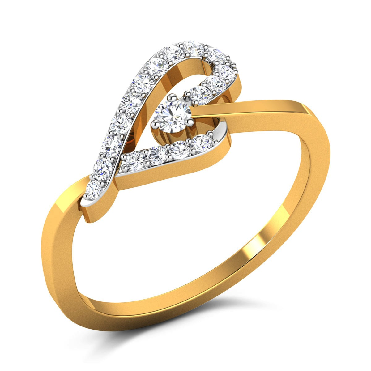 Tangerine Diamond Ring