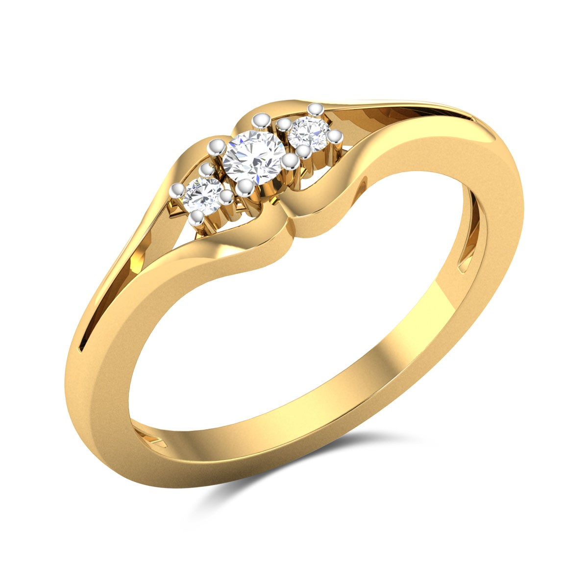 Buy Silvia Diamond Ring In 2.48 Gms Gold Online