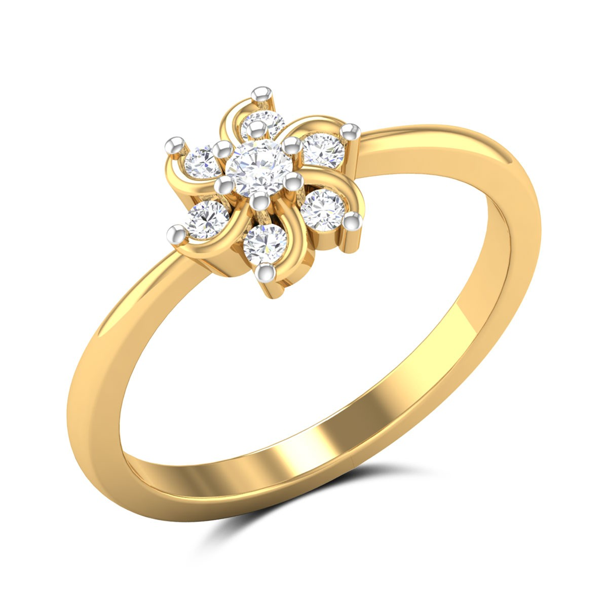 December Flower Diamond Ring
