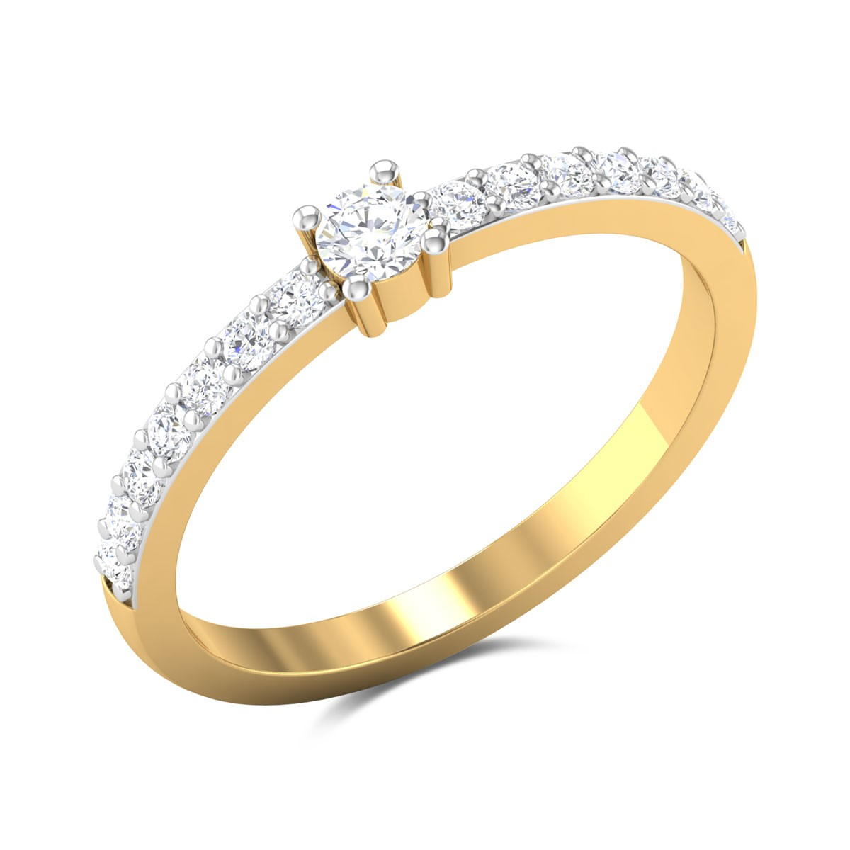 Peach Blossom Diamond Ring