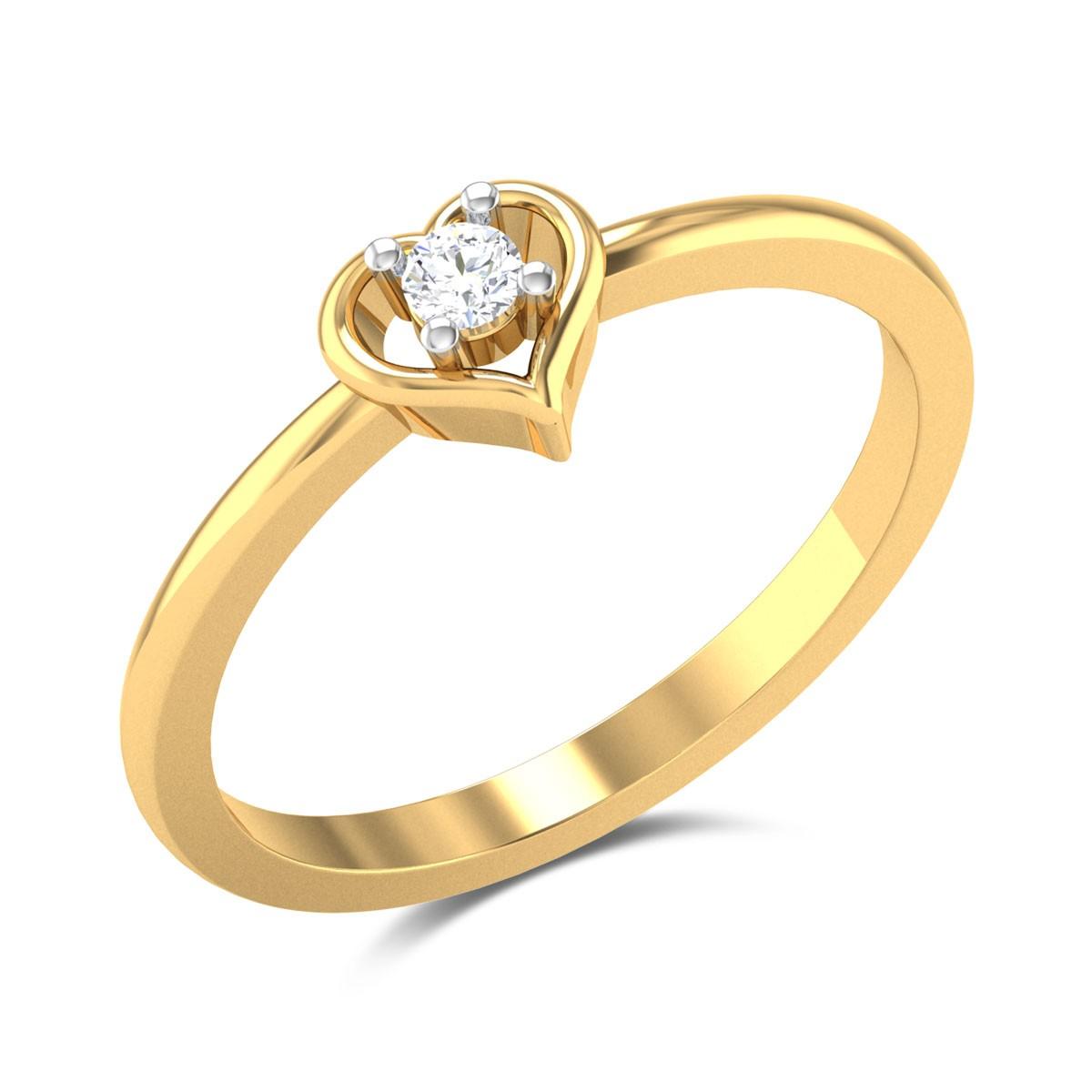 Maria Diamond Studded Gold Ring DJRN5194