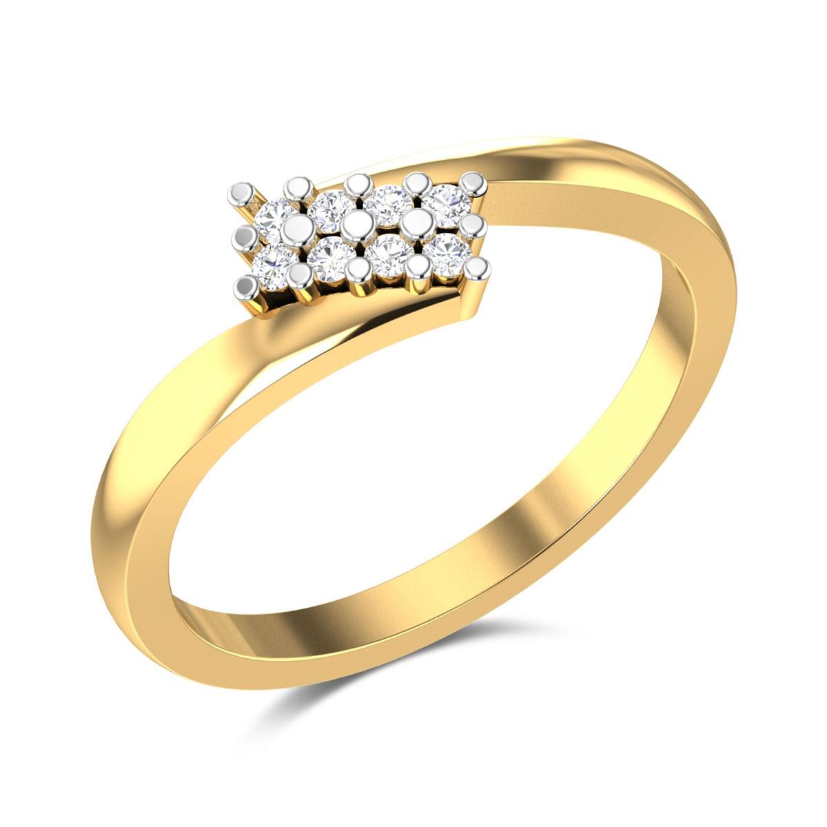 Dancing Flames Diamond Ring