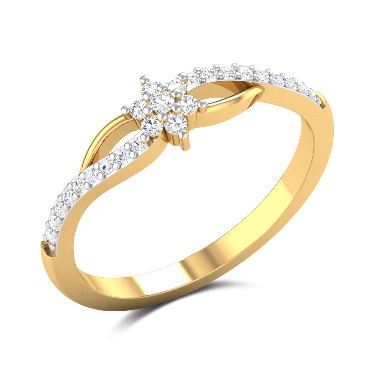 Isra Floral Diamond Ring