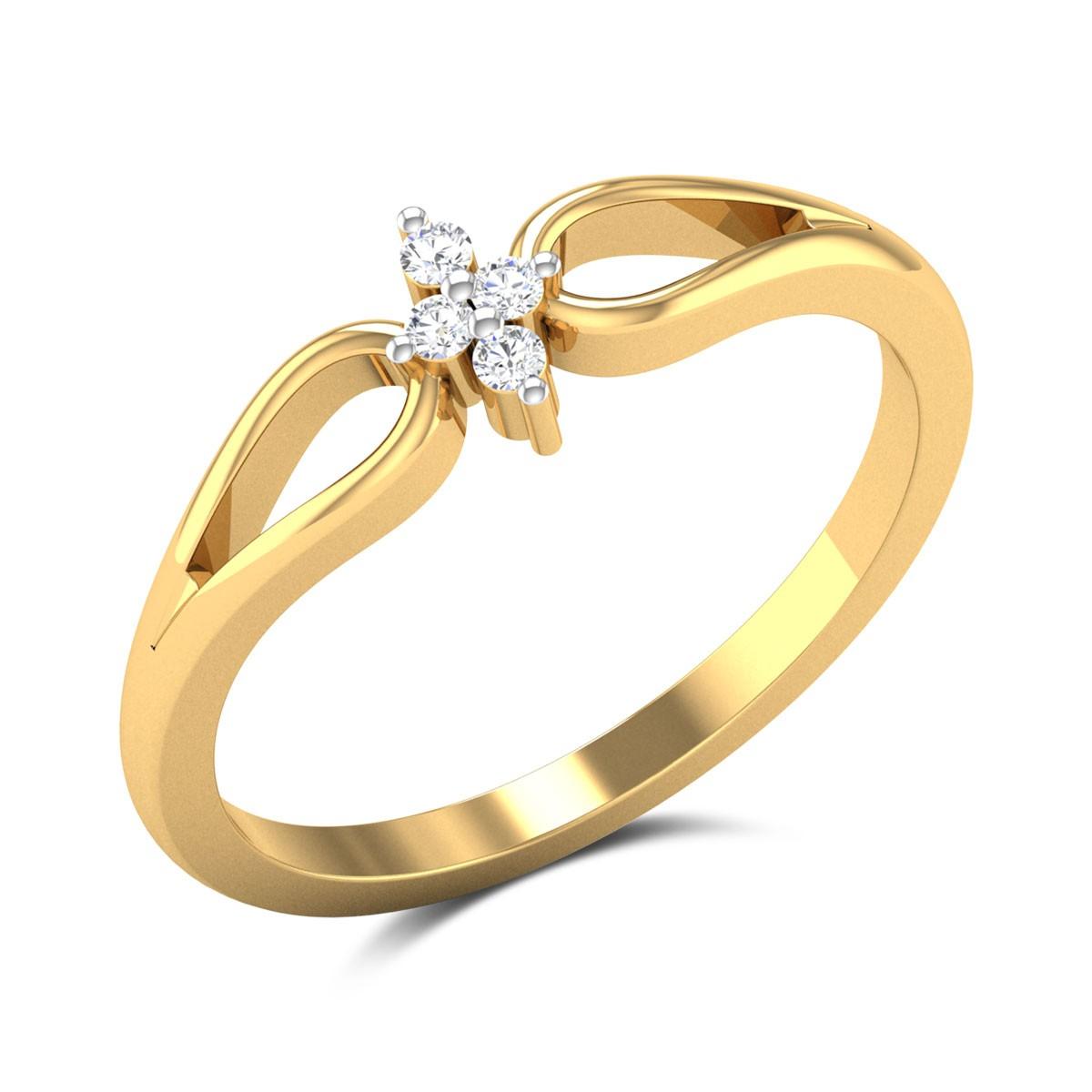 Buy Martha Diamond Promise Ring in 1.5 Gms Gold Online