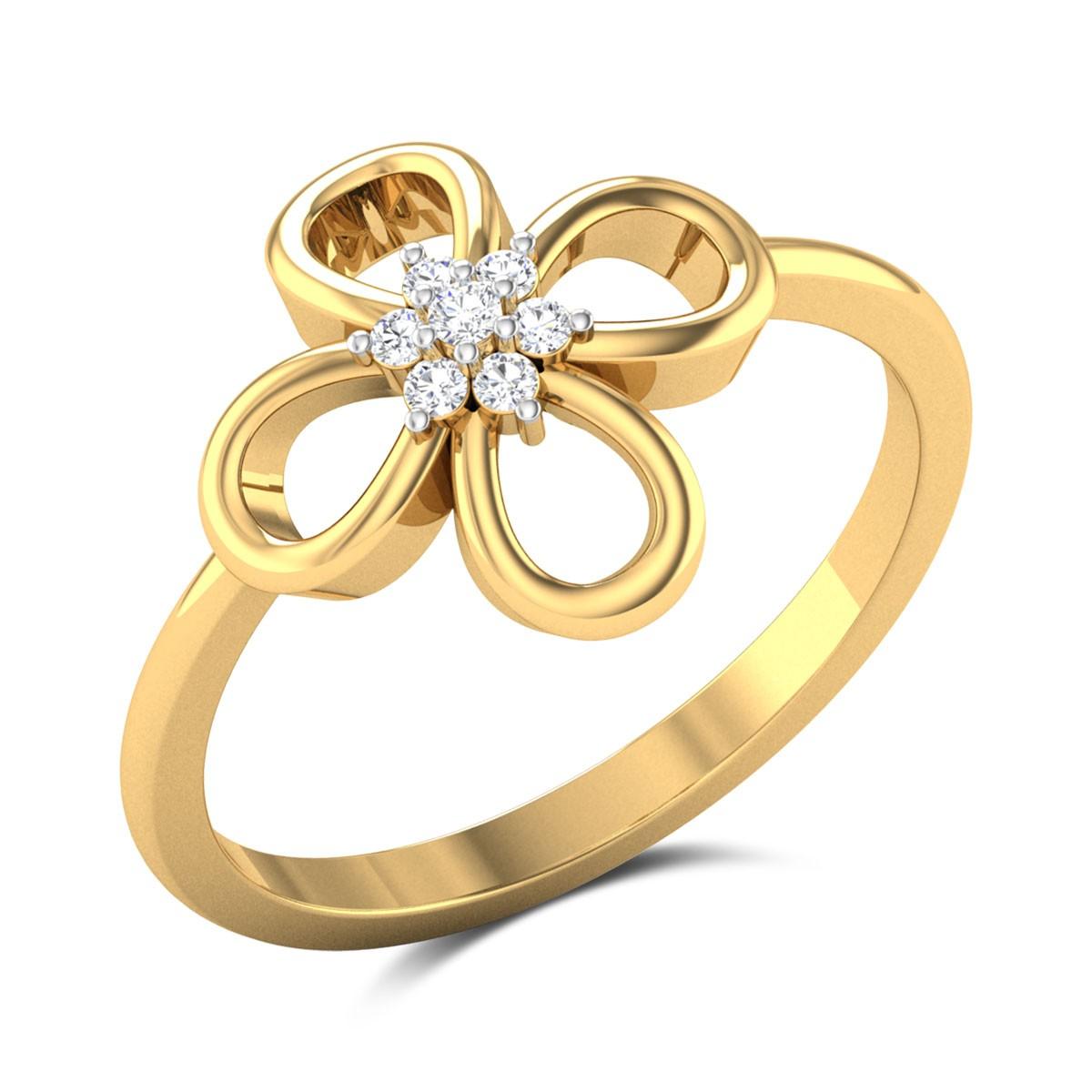 Buy Francesca 7 Stone Diamond Ring in 2.03 Gms Gold Online