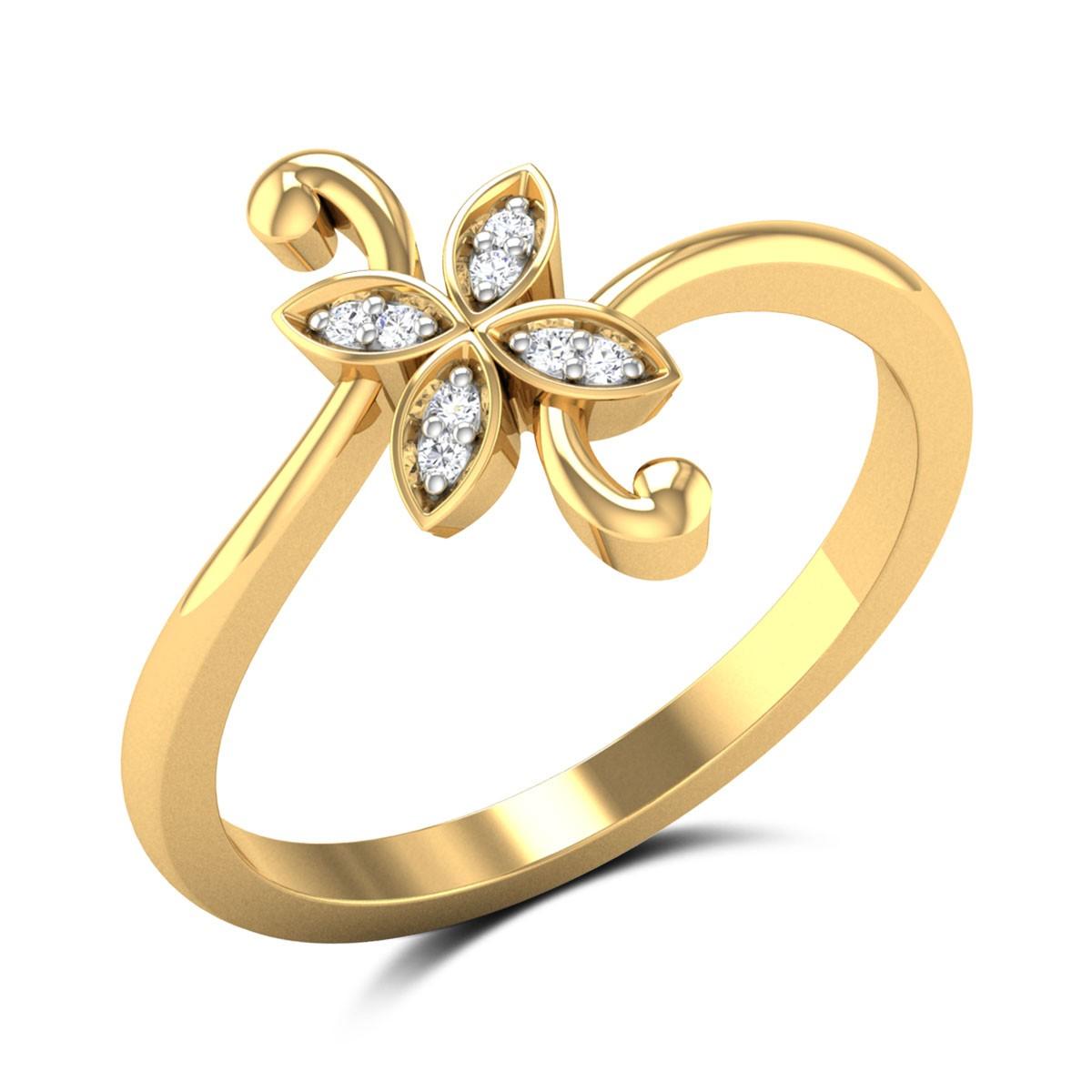 Paisley Diamond Ring