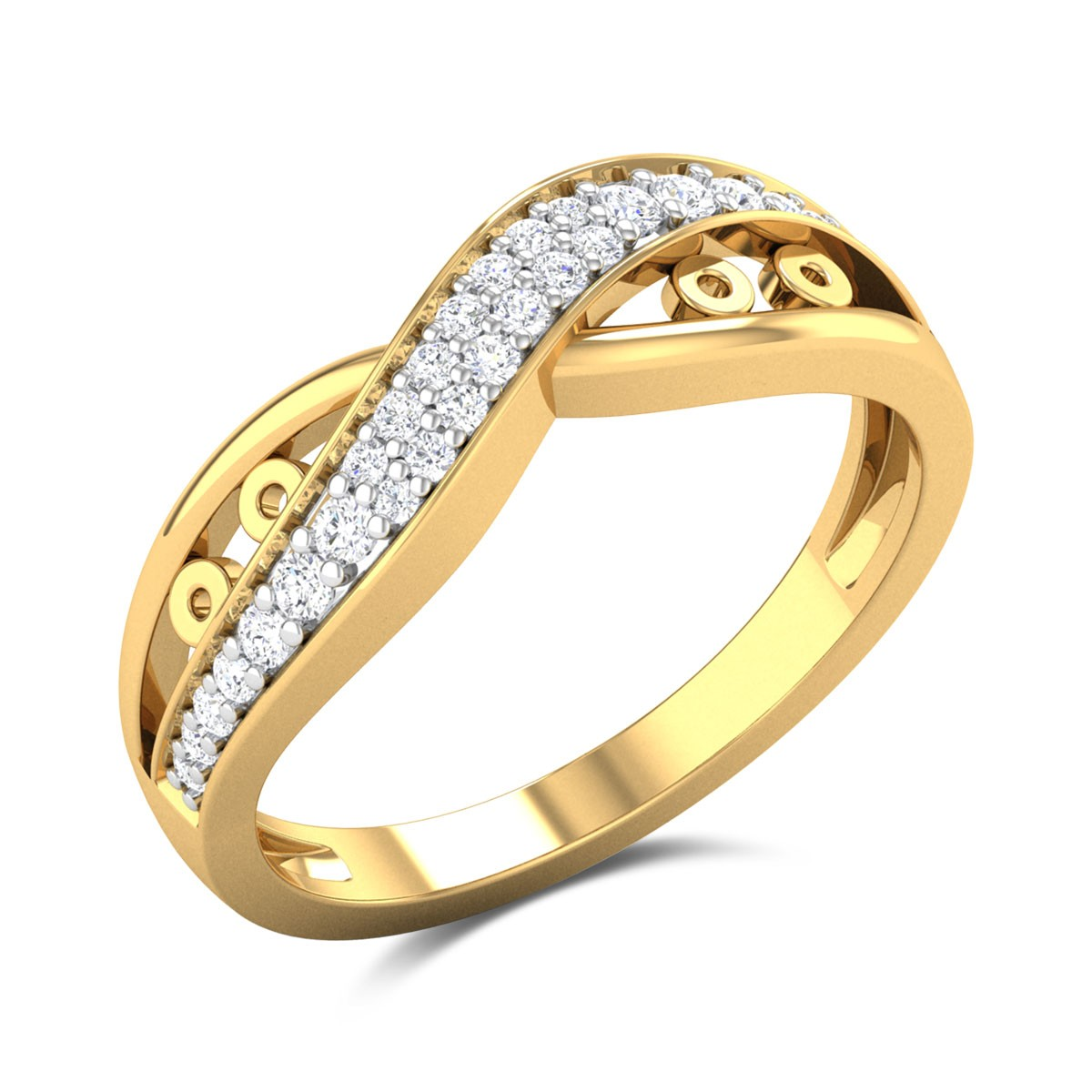 Aadya Diamond Wavy Ring