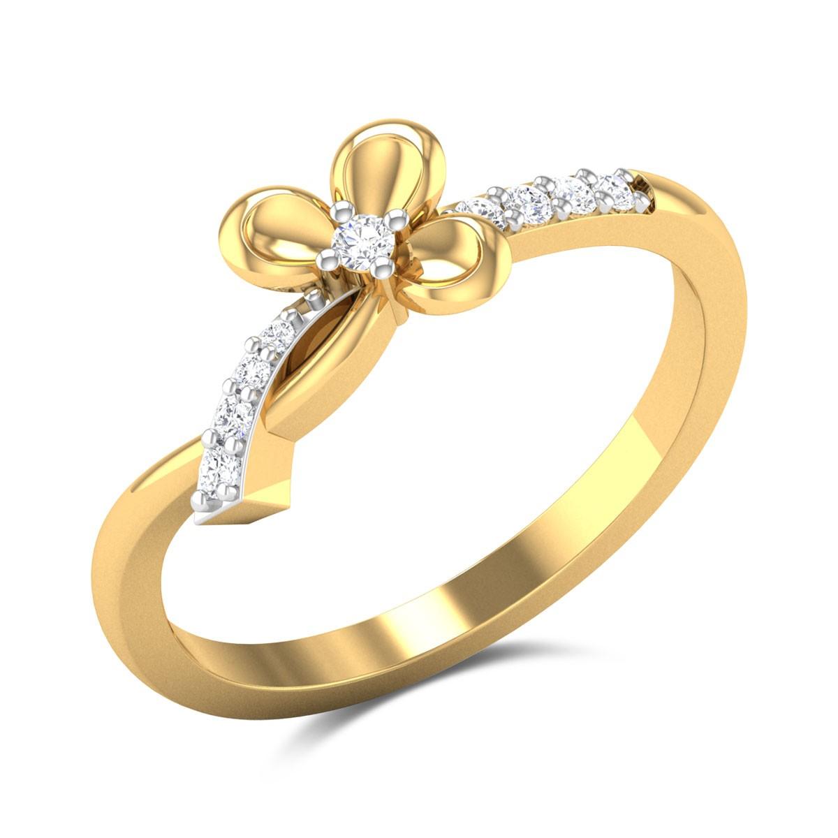 Aahladita Bowed Diamond Ring