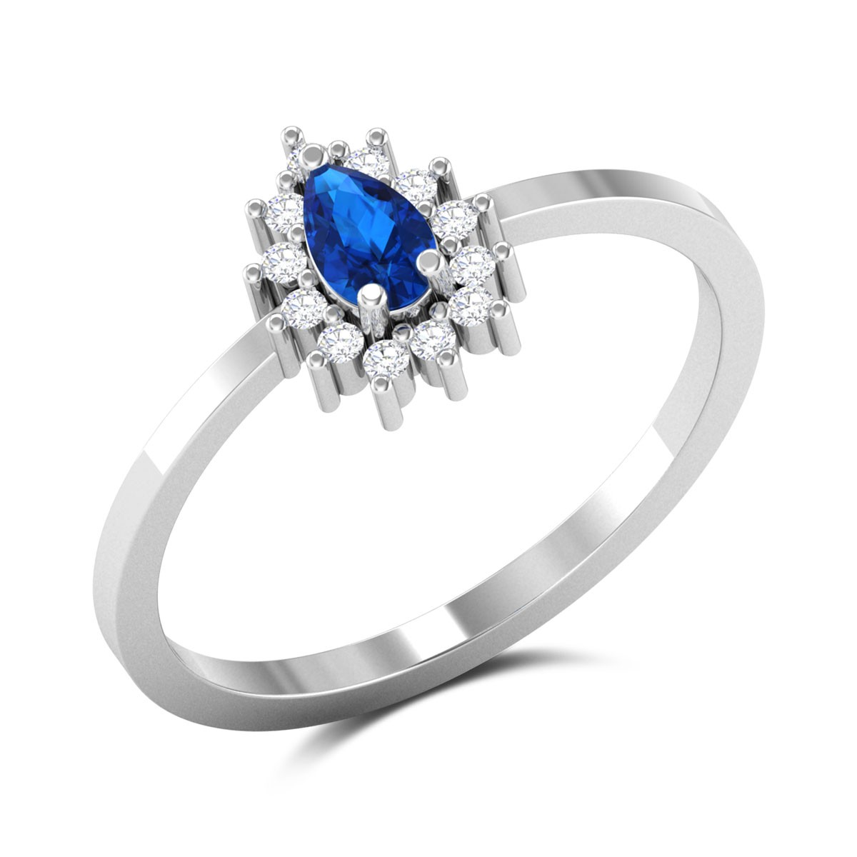 Royal Blue Diamond Ring