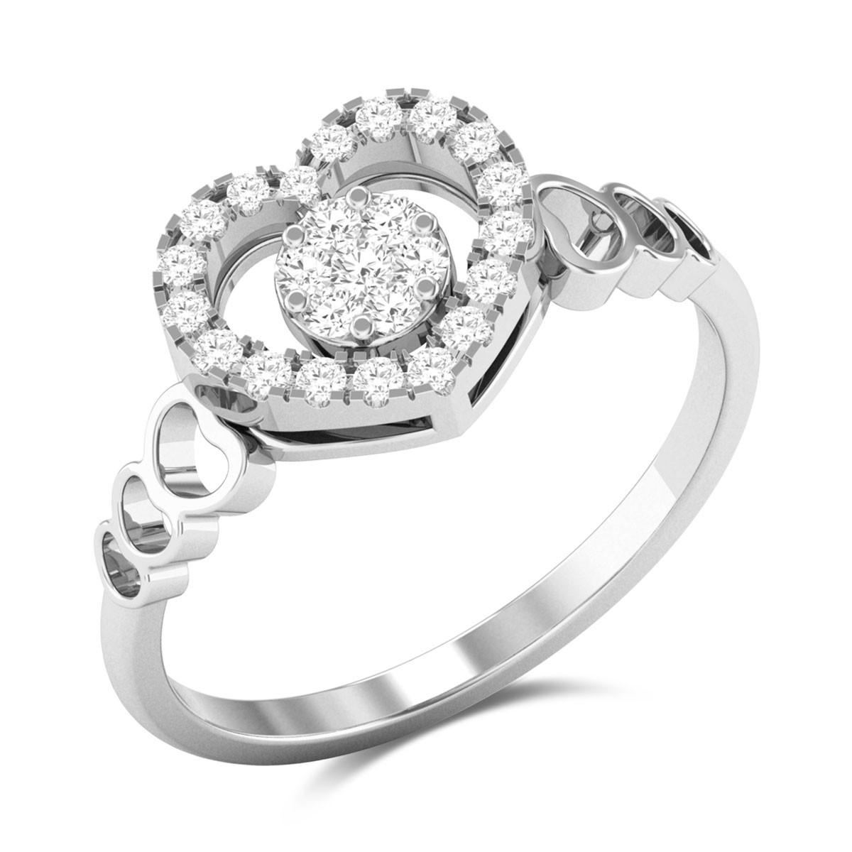 Onassis Heart Diamond Ring