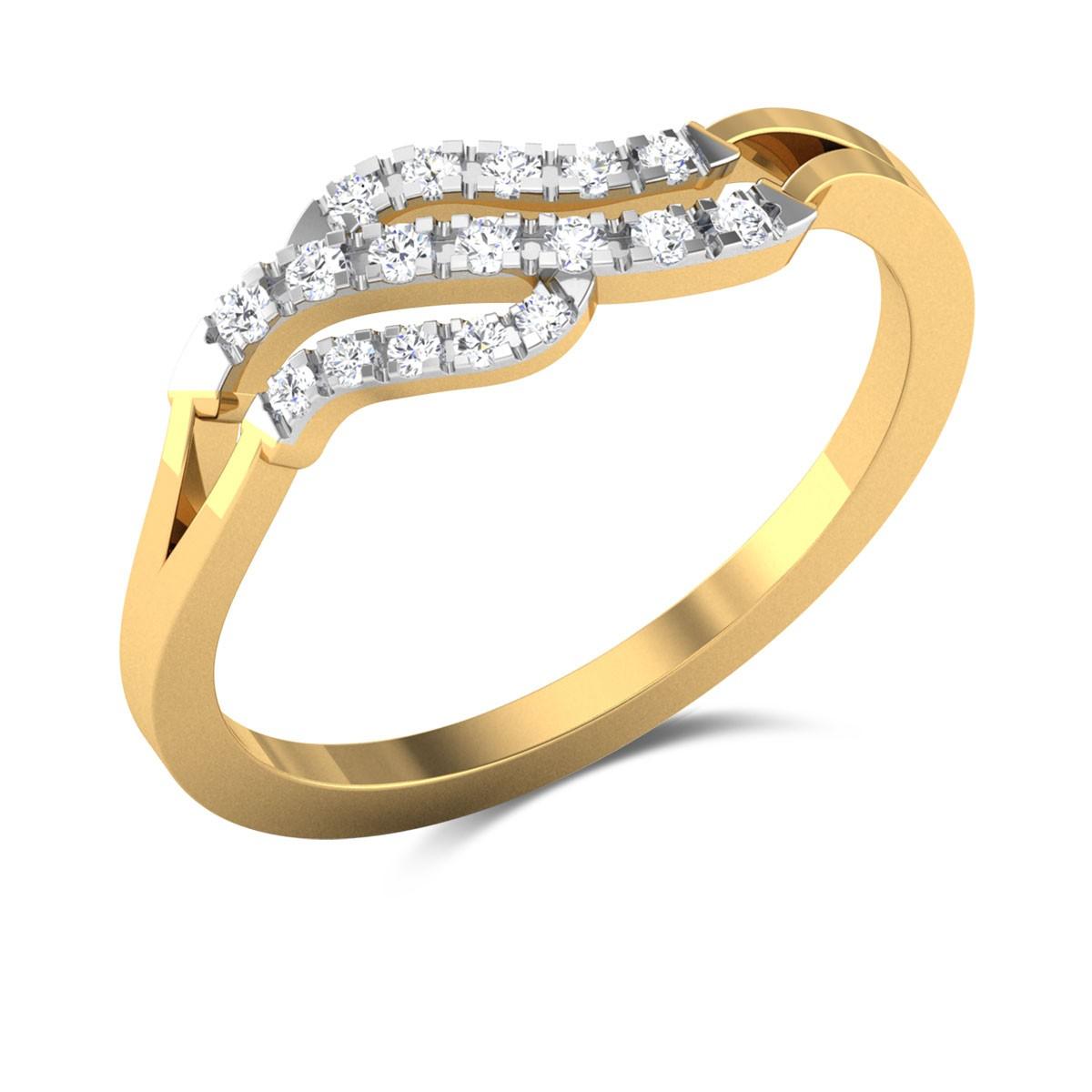 Trompe L'Oeil Diamond Ring