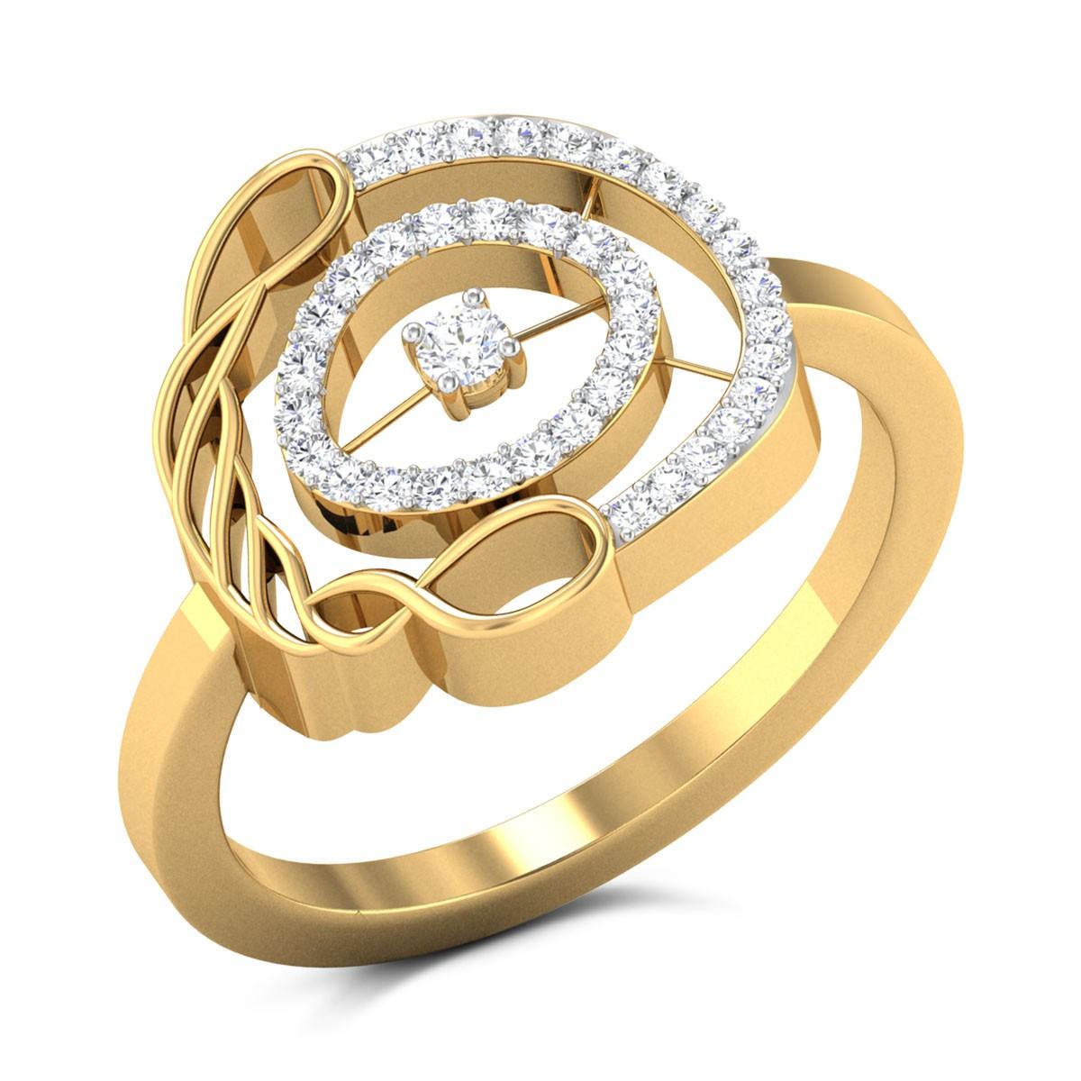 Fabiana Circular Twist Diamond Ring