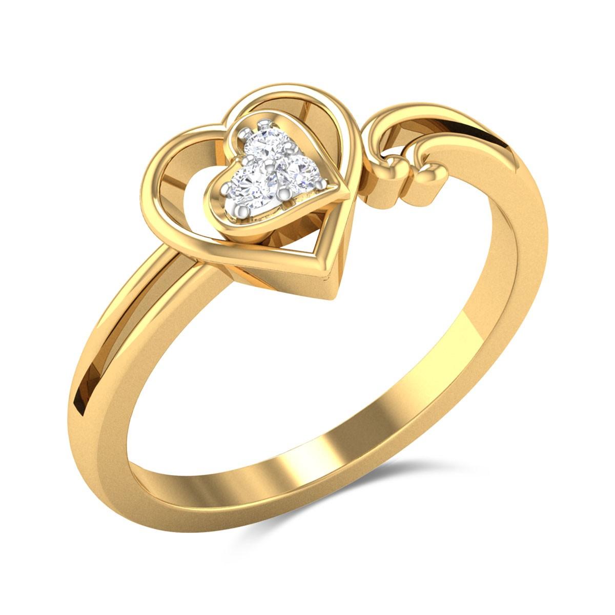 Hearts United Diamond Ring