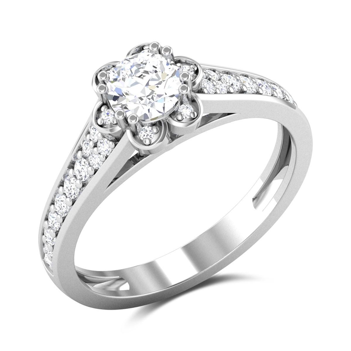 Effervescense Solitaire Ring