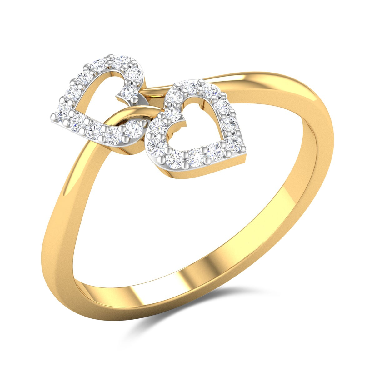 Heart Together Diamond Ring
