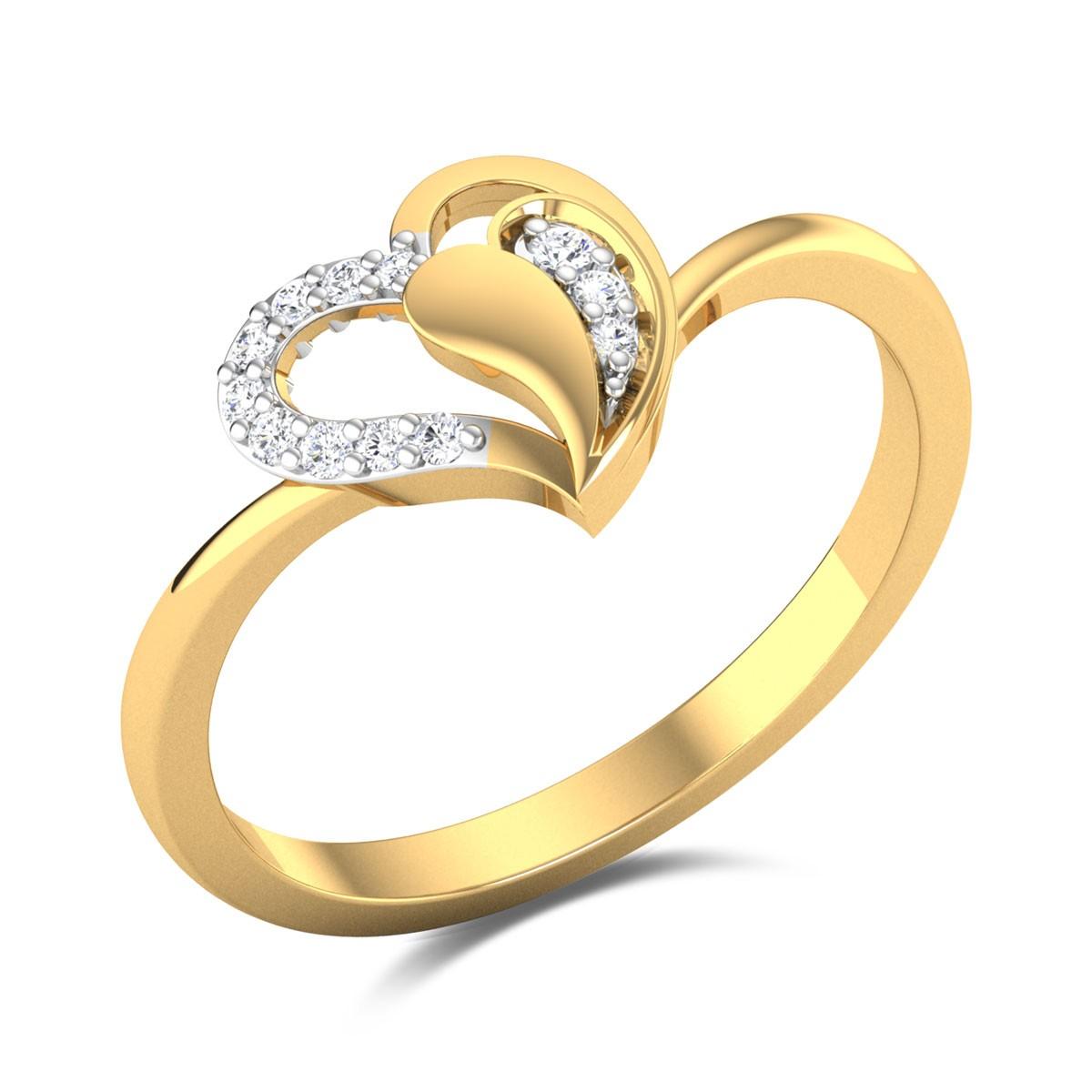 Melting Heart Diamond Ring