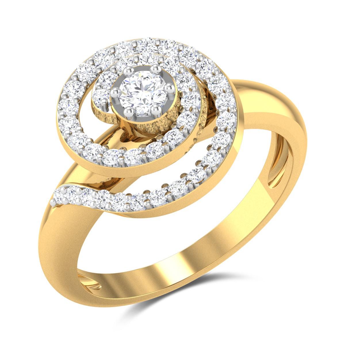 Curl N Curl Diamond Ring