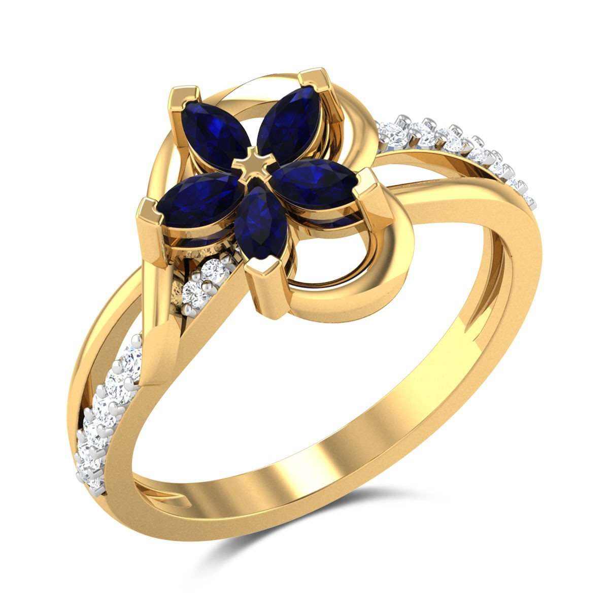 Agatha Floral Heart Ring