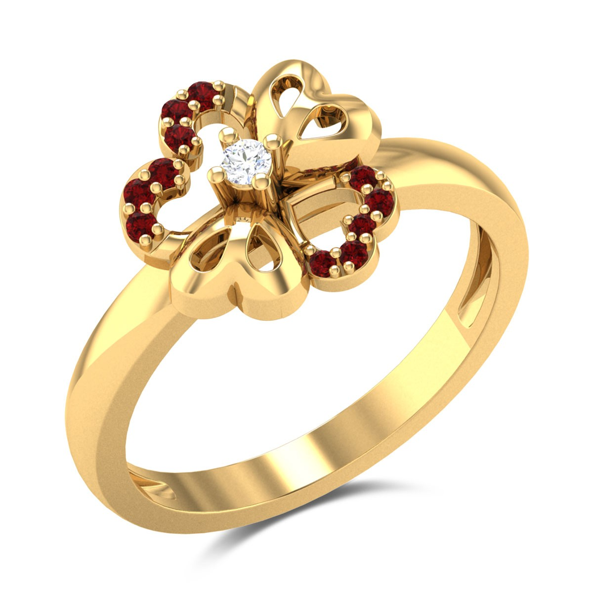 Blooming Scarlet Diamond Ring