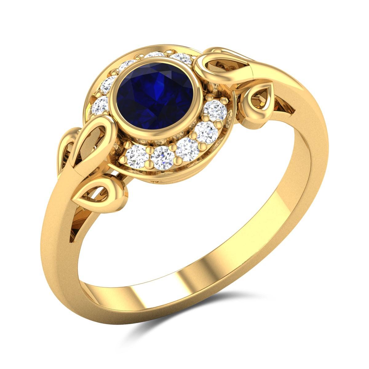 Sapphire Feast Diamond Ring