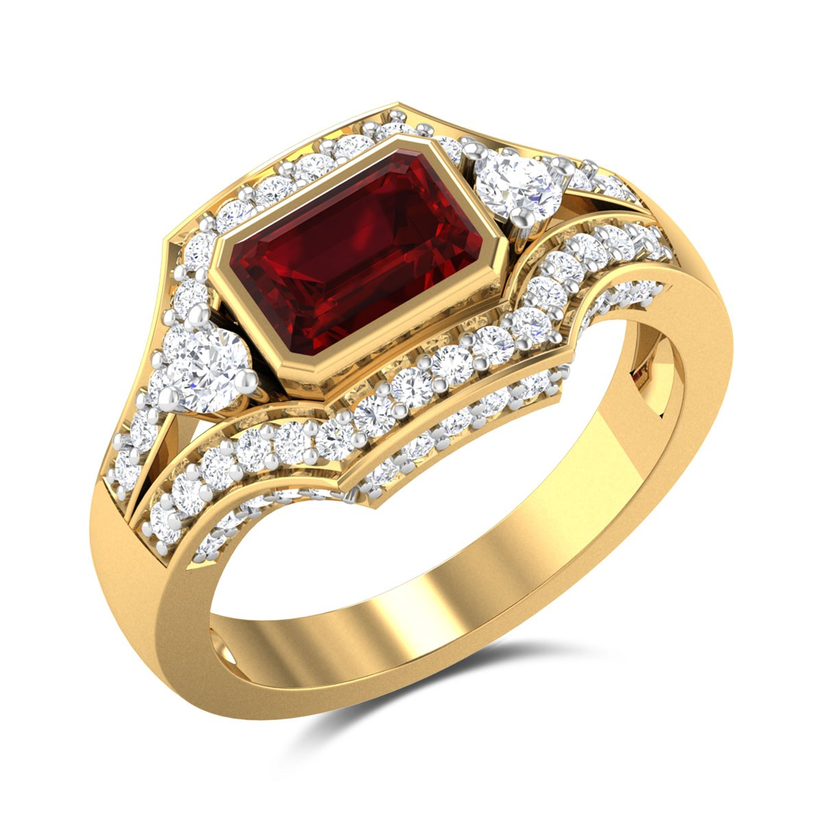 Caladium Diamond Ring