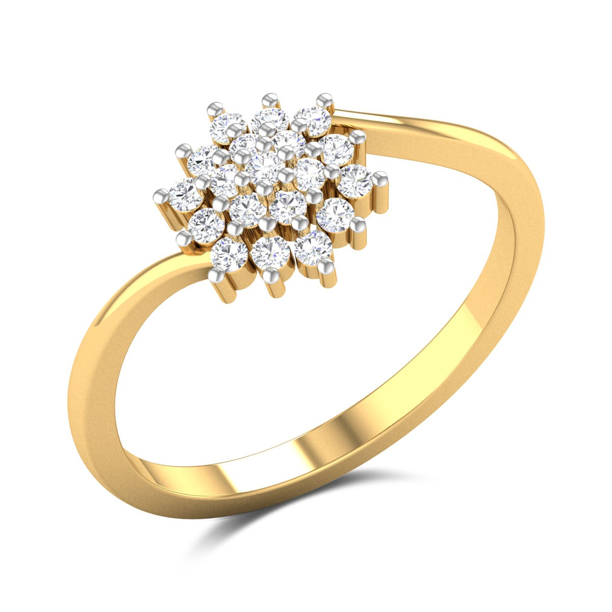 Dandelion Diamond Ring
