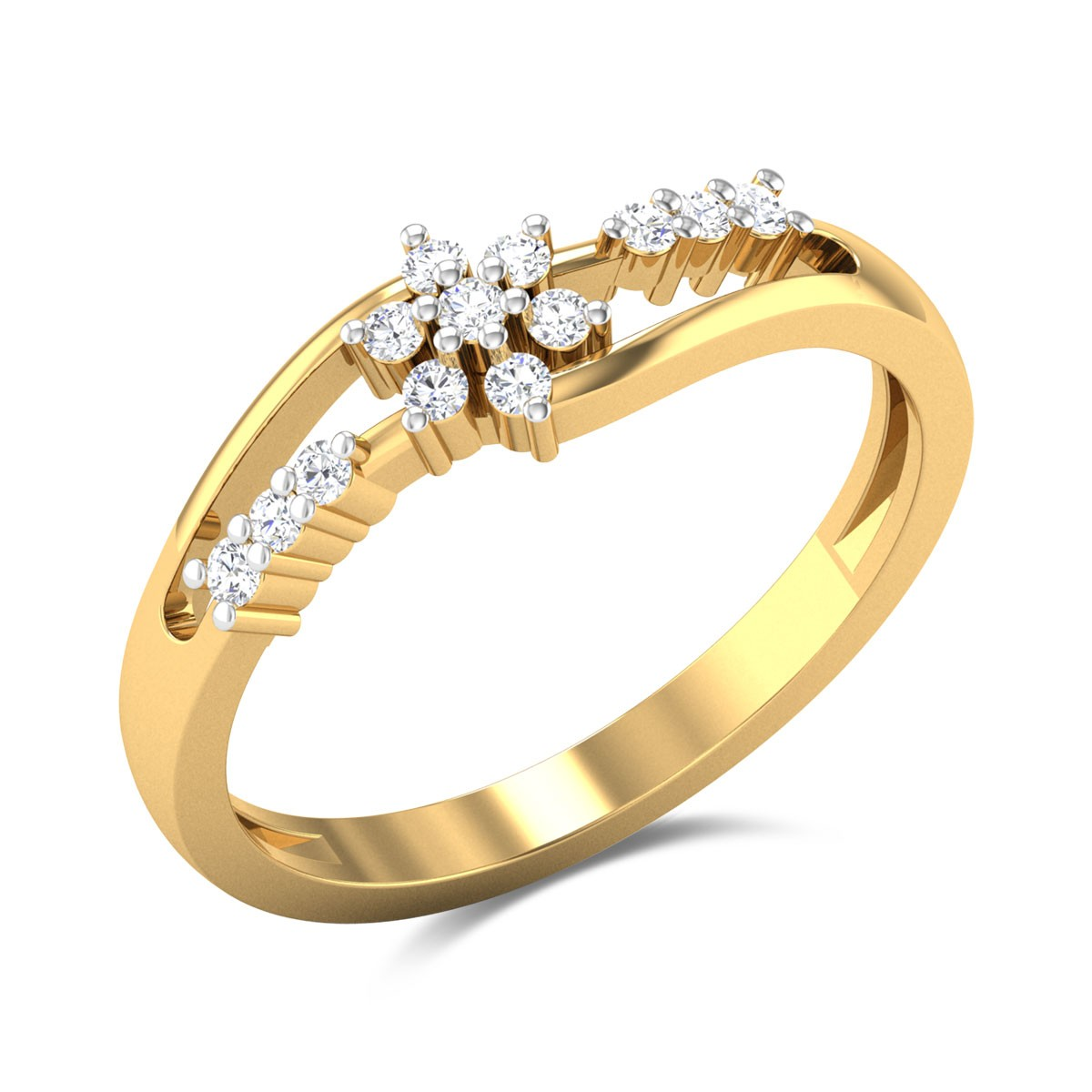 Floral Crocus Diamond Ring