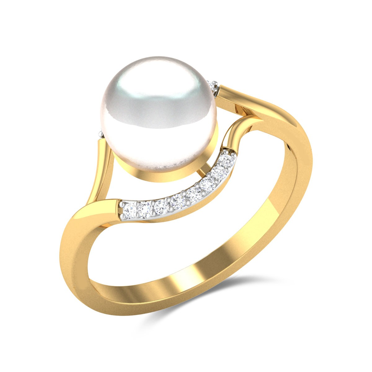 Aanshi Pearl Blooming Ring