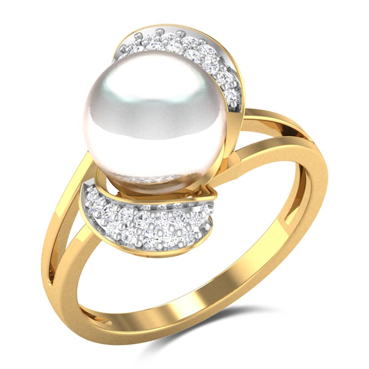 Aanya Pearl Blossom Ring