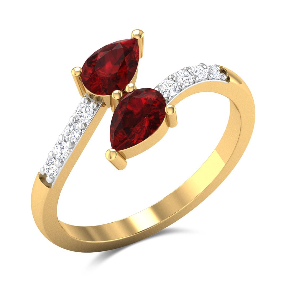 Ruby Bud Ring