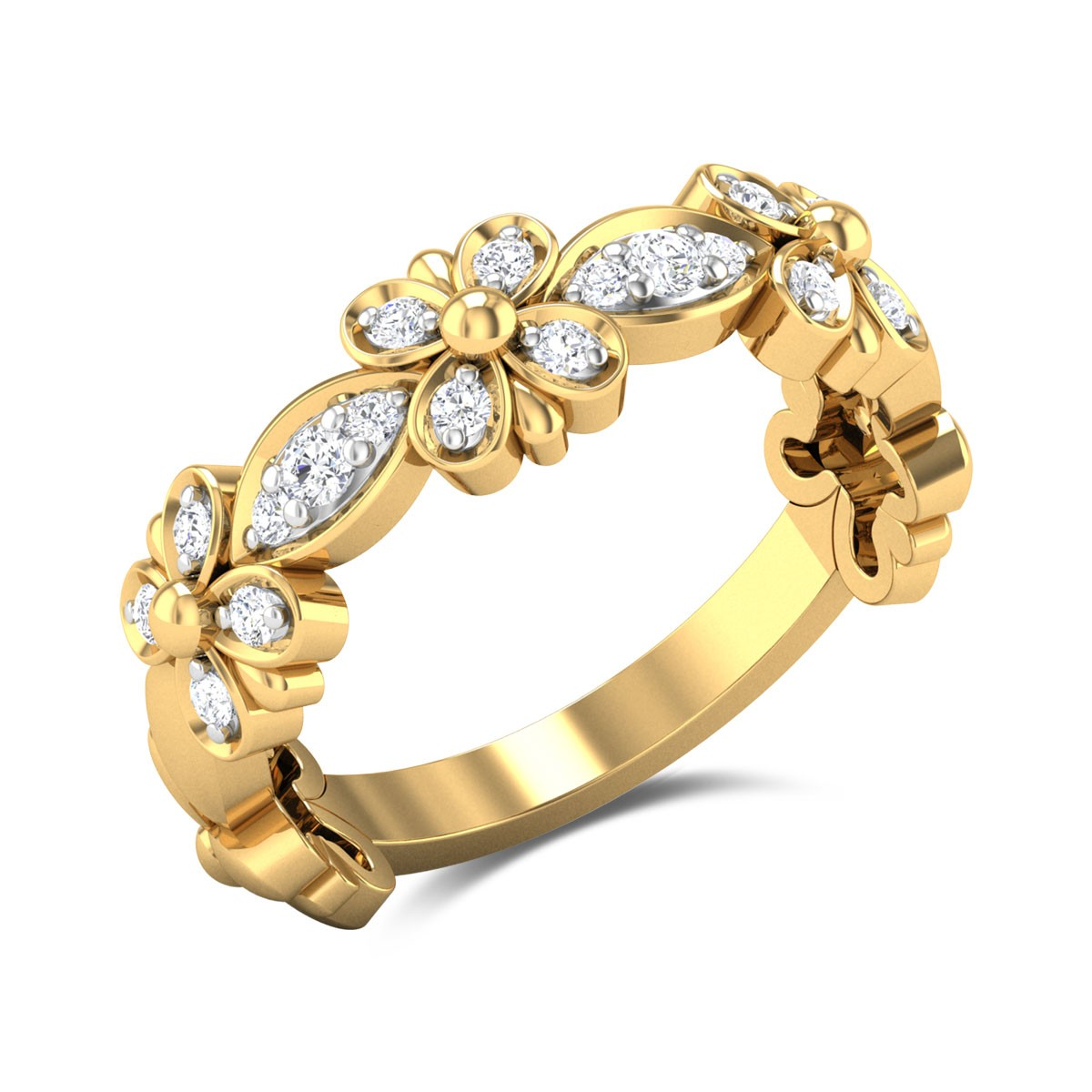Bay Wreath Diamond Ring