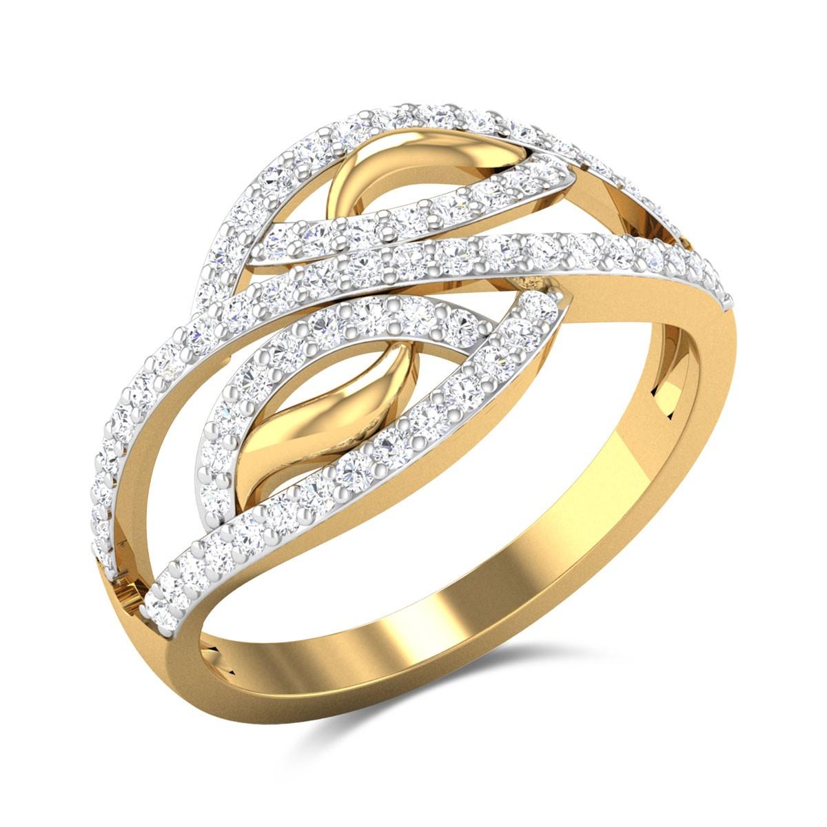 Buy Breauna Diamond Ring in 3 Gms Gold Online