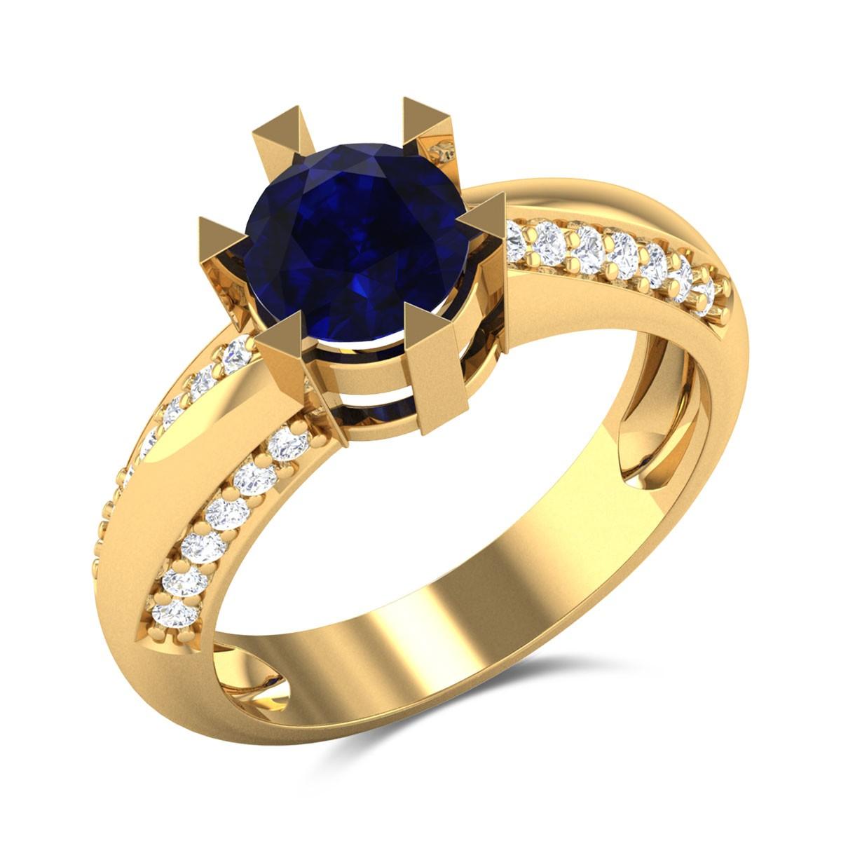 Dynamic Crown Diamond Ring