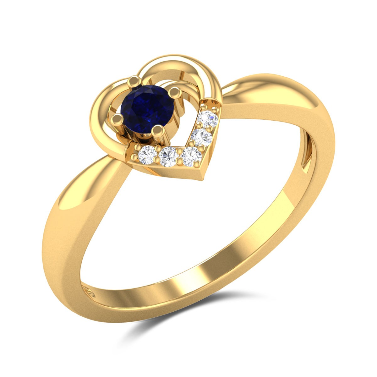 Romantic Heart Diamond Ring
