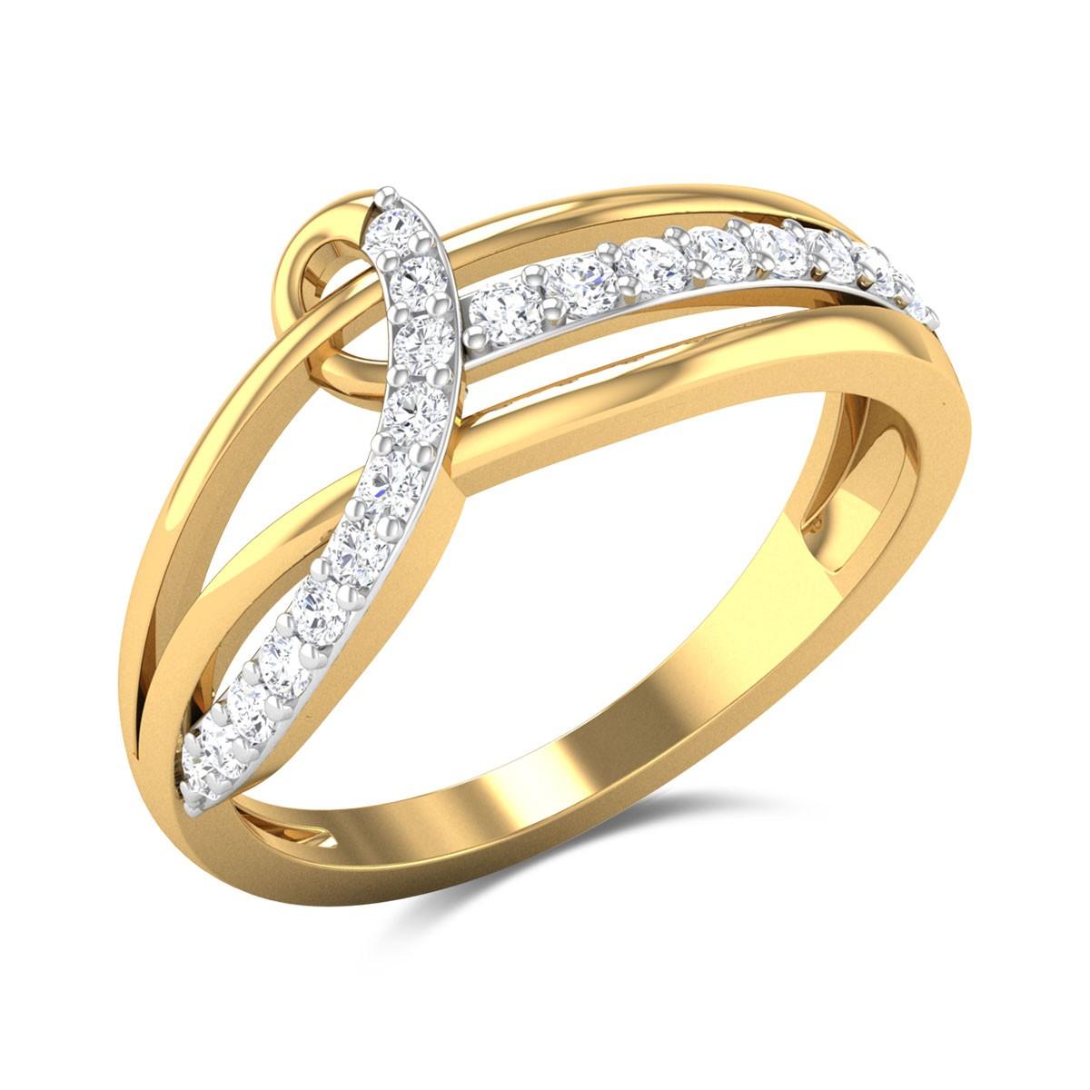 Eliane Split Band Twist Diamond Ring