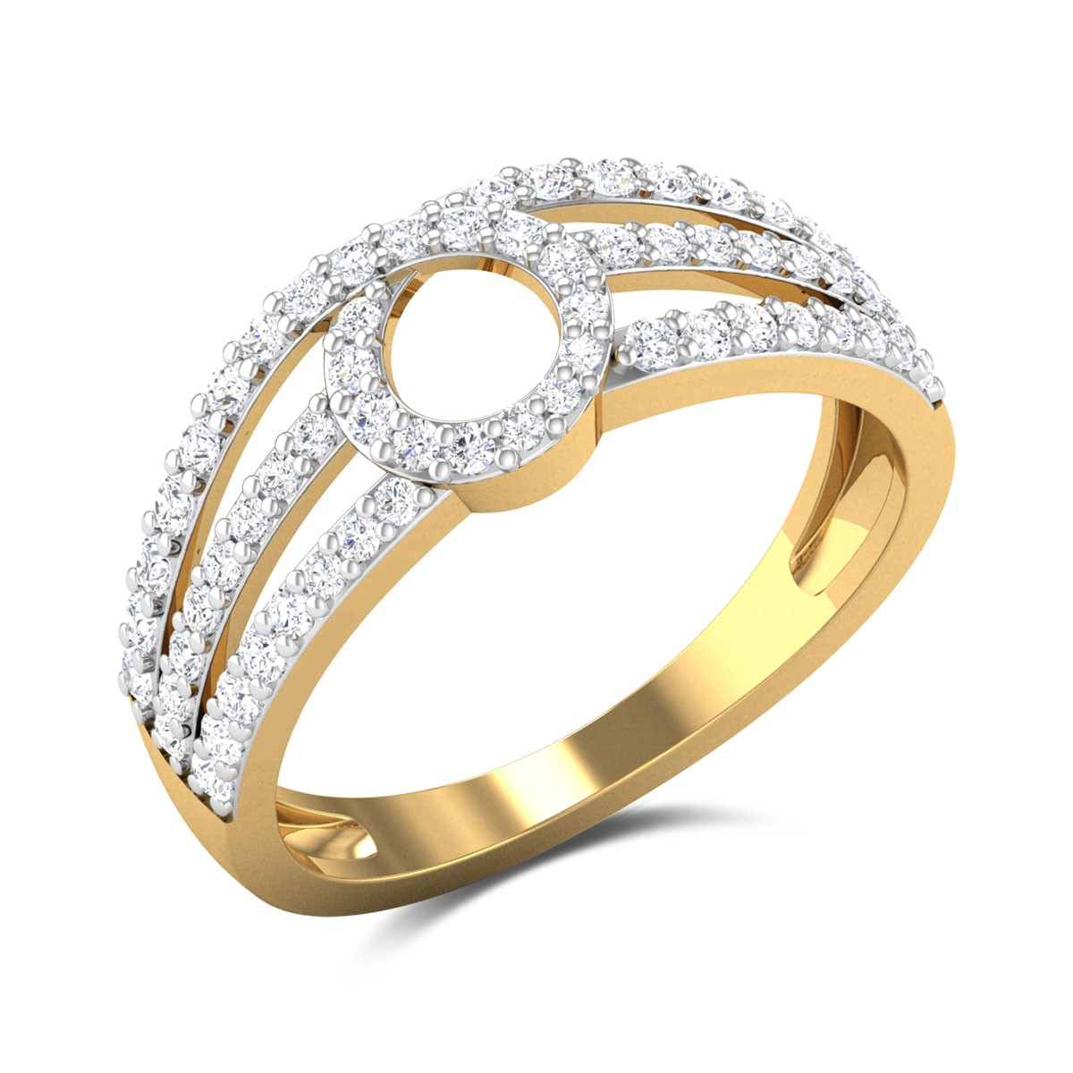 Chevon Diamond Ring